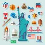 Símbolos dos EUA Fotografia de Stock Royalty Free