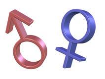 símbolos dos homens e das mulheres Ilustração Stock