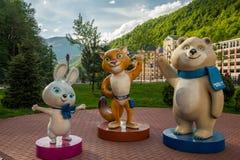 Símbolos dos Jogos Olímpicos em Sochi Imagens de Stock