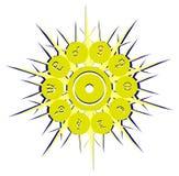 Símbolos dos planetas na decoração abstrata ilustração do vetor