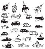 Símbolos dos veículos ilustração do vetor