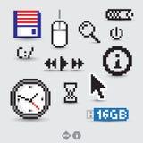 Símbolos e ícones do computador Fotografia de Stock