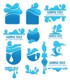 Símbolos e emblemas da água Foto de Stock