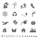 Símbolos e iconos de Eco Fotos de archivo libres de regalías