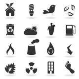 Símbolos e iconos de Eco Imágenes de archivo libres de regalías