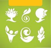 Símbolos e iconos de Eco Imagen de archivo