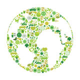 Símbolos ecológicos Fotografía de archivo