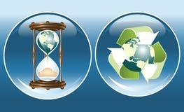 Símbolos ecológicos Ilustração Stock