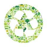 Símbolos ecológicos Imagen de archivo libre de regalías