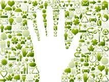 Símbolos ecológicos Fotografía de archivo libre de regalías