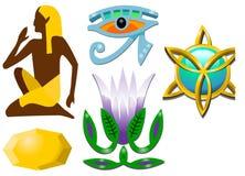 Símbolos egípcios Foto de Stock