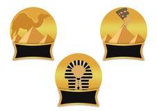 Símbolos egípcios Imagem de Stock
