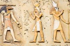 Símbolos egípcios antigos Imagem de Stock