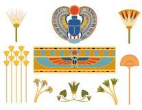 Símbolos egipcios Fotos de archivo