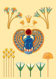 Símbolos egipcios Imagen de archivo libre de regalías