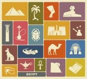 Símbolos egipcios Fotografía de archivo