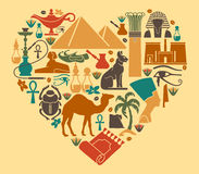 Símbolos egipcios Fotos de archivo libres de regalías