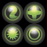 Símbolos esféricos del vector Imagenes de archivo