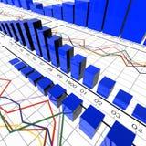 Símbolos estadísticos Fotos de archivo libres de regalías