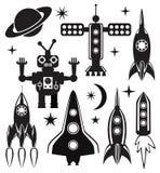 símbolos estilizados do espaço do vetor Imagens de Stock Royalty Free