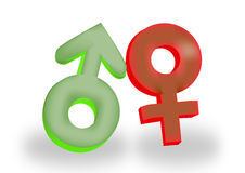 Símbolos fêmeas e masculinos Imagem de Stock