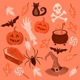 Símbolos fantasmagóricos de Halloween Fotos de archivo