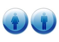 Símbolos femeninos y masculinos stock de ilustración