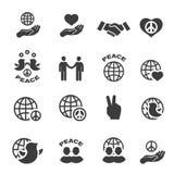 Símbolos fijados iconos del vector de la paz Fotos de archivo libres de regalías