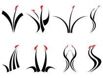 Símbolos florais do projeto Imagem de Stock Royalty Free