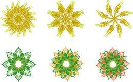Símbolos florales de la espiga Fotos de archivo libres de regalías