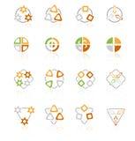Símbolos geométricos, compañía de la insignia Fotos de archivo