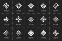 Símbolos geométricos do vetor Imagens de Stock