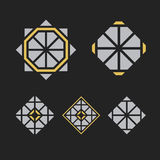 Símbolos geométricos do vetor Foto de Stock Royalty Free