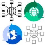 Símbolos globais Fotografia de Stock Royalty Free