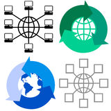 Símbolos globales stock de ilustración
