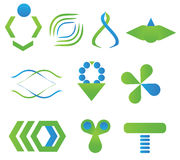 Símbolos gráficos dos ícones dos elementos Imagens de Stock