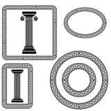 Símbolos griegos Imagen de archivo libre de regalías