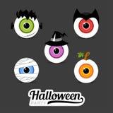 Símbolos Halloween del ejemplo stock de ilustración