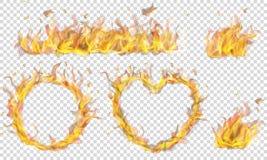Símbolos hechos de la llama del fuego libre illustration