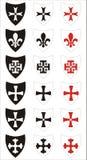 Símbolos heráldicos ilustração do vetor