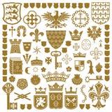 Símbolos HERÁLDICOS y decoraciones Imagen de archivo