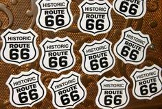 Símbolos históricos da rota 66 fotos de stock royalty free