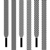 Símbolos inconsútiles del cordón de zapato ilustración del vector
