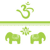 Símbolos indianos Ilustração Royalty Free
