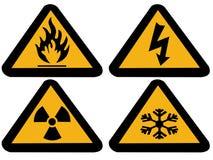 Símbolos industriales del peligro Fotos de archivo libres de regalías