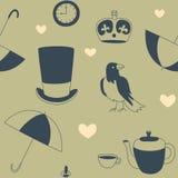 Símbolos ingleses ilustración del vector