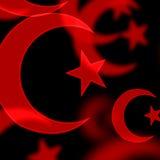 Símbolos islâmicos Imagens de Stock