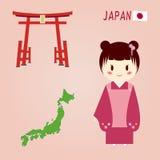 Símbolos japoneses. Fotos de Stock Royalty Free