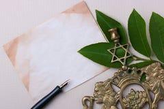 Símbolos judíos Fotos de archivo libres de regalías