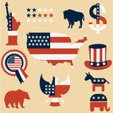 Símbolos los E.E.U.U. Imagenes de archivo